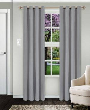 1 pair  Impressions Reagan Solid Blackout Curtain Set with Grommet Header