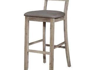 linon Home decor products barstool gray wash