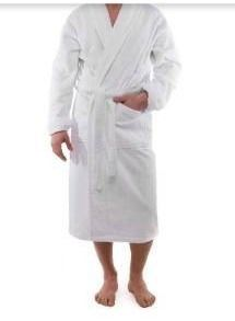 Unisex Oeko Tex Classic Turkish Bathrobe Terry White large Xl