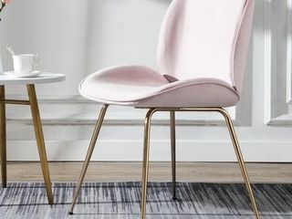Art leon Beetle Design Velvet Dining Chair with Plated Golden legs Retail 118 99