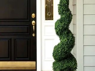 50 inch Romano Boxwood Spiral Topiary Artificial Tree