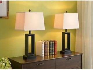 Katherine Black 2 Pack Table lamp