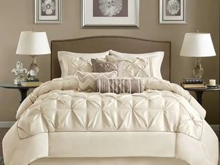 Madison Park lafayette Ivory 7 piece Comforter Set Retail 86 49