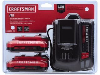 Craftsman 20V MAX 2 Ah lithium Ion Battery and Charger Starter Kit 3 pc    Case Of  1  Each Pack Qty  3  Total Items Qty  3