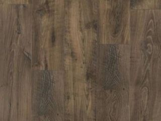 Pergo portfolio   wetprotect waterproof rustic smoked chestnut 7 48 in W x 54 33 in l embossed wood plank laminate flooring