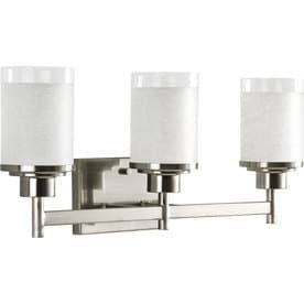 Progress lighting 3 light Alexa Brushed Nickel Bathroom Vanity light