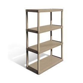 Blue Hawk 52 62 in H x 34 75 in W x 14 63 in D 4 Tier Plastic Freestanding Shelving Unit