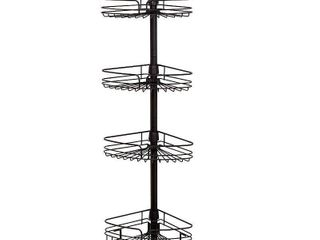 4Tier Rust Resistant Bathtub   Shower Pole Caddy Heritage Bronze   Zenna Home