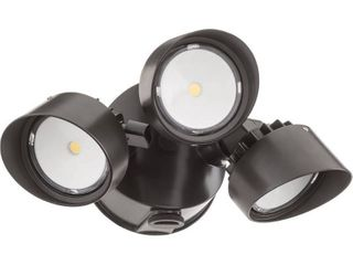 lithonia lighting 3 Head Bronze lED Dusk to Dawn Flood light