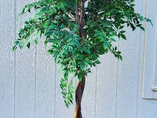 Artificial Tree and Metal Planter