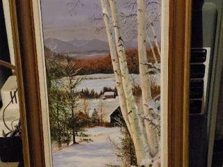 Oil in CanvasIJ Winter Scene