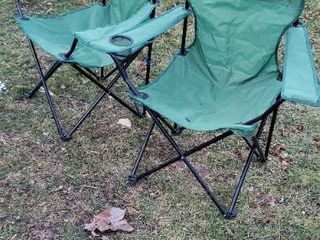 Pair of Folding Camp Chaors