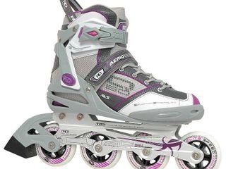 Roller Derby Women s Aerio Q 60 Inline Skates   Gray White Pink  7