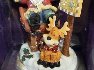 Holiday Time Santa and Reindeer Stocking Holder