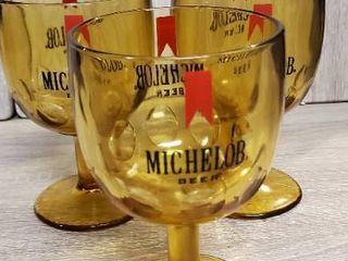 lot of 3 Michelob Glasses