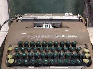 Vintage Smith Corona Typewriter and Case