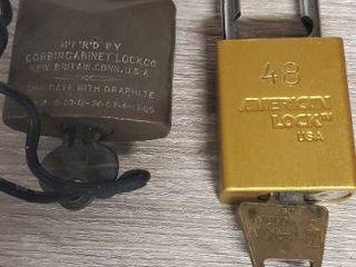 lot of 2 locks with Keys