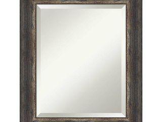 Rustic Char 41x29 inch Bark Rustic Bathroom Vanity Wall Mirror Retail  166 49