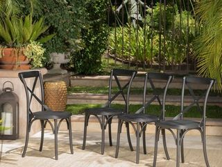 Danish Outdoor Farmhouse Dining Chair  Set of 2  by Christopher Knight Home Retail 254 99