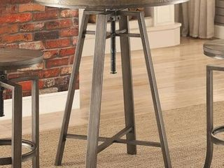 Industrial Adjustable Height Round Bar Table Retail 295 99