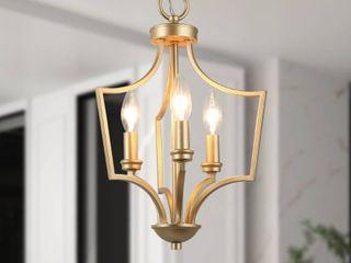 Mid Century 3 lights Island Pendant Gold Mini Chandelier lighting
