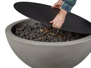 Caro large Aluminum Fire Bowl lid   Black   Jensen Co