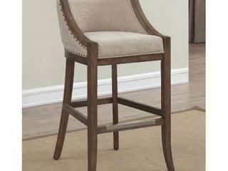 Memphis 26 inch Brown Birch and Fabric Counter Stool by Greyson living  Retail 214 99