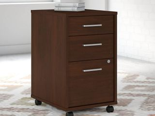 Brown Method 3 Drawer Mobile File Cabinet from Office by kathy ireland Retail 309 49