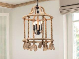 Brownish Black  amp  Yellow Vasna 4 light lantern Cylinder Chandelier Retail  156 49