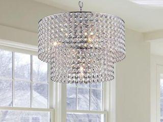 Ainhoa 5 light Chrome Double Round Crystal Chandelier  Retail 167 99