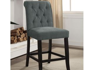 Furniture of America Sheila Chenille Counter Height Chair  Set of 2  Retail 239 49