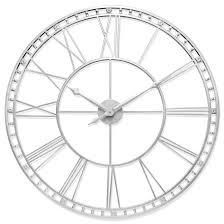 The Tower XXl large Open Face Metal Wall Clock 39 inch Antique Silver Retail  174 95