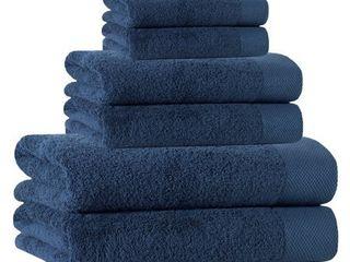D Denim Signature Towel Set  Set of 6