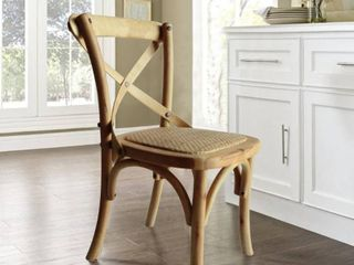 Children s X Back Natural Dining Chair