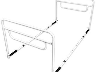 RMS Dual Bed Rail   Adjustable Height Bed Assist Rail  Bed Side Hand Rail   Fits Full   Twin Beds  Dual Hand Rail