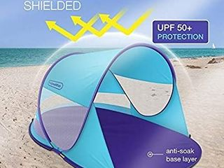 multifun UPF 50  Easy Pop Up Beach Tent  large 3 4 Person Sun Shelter  Instant Sunshade