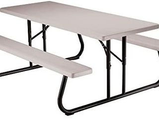 lifetime 22119 Folding Picnic Table  6 Feet  Putty