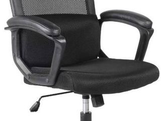 Office Chair  High Back Ergonomic Mesh Desk Office Chair with Padding Armrest and Adjustable Headrest Black