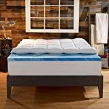 Sleep Innovations 4 Inch Dual layer Mattress Topper   Gel Memory Foam and Plush Fiber  King Size