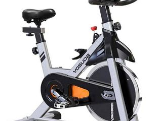 YOSUDA Indoor Cycling Bike Stationary   Cycle Bike with Ipad Mount  Comfortable Seat Cushion  Gray  Missing Front Feet