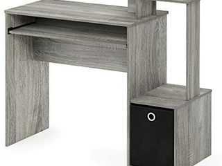 FURINNO Econ Multipurpose Home Office Computer Writing Desk  French Oak Grey   MISSING BIN HARDWARE AND INSTRUCTIONS