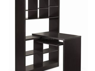 Monarch Specialties I Storage Bookcase left Or Right Set Up Corner Desk with Multiple Adjustable Shelves  60 l  Cappuccino