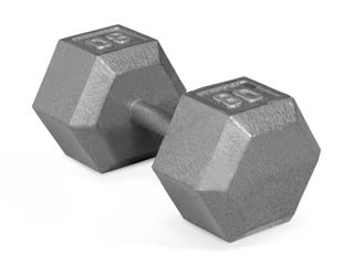 CAP CAST IRON HEX DUMBBEll  BlACK  Single 80 lbs