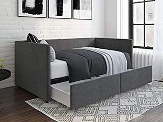 DHP Daybed with Storage Drawers  Twin  Grey