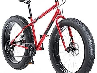Mongoose Men s Dolomite 26  Fat Tire Bicycle  Red  18 One Size   FRONT FORK IS BENT  NEEDS NEW FORK