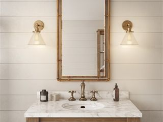 Morse Industial Metal Wall Mirror   Copper