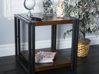 Mayfair Dark Oak Wood End Table by Christopher Knight Home  Retail 108 99