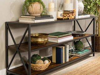 Carbon loft Hattie 60 inch X frame Bookshelf  Retail 222 34