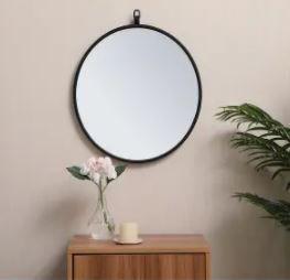 Carson Carrington labbemala Metal Frame Round Mirror  Retail 79 98