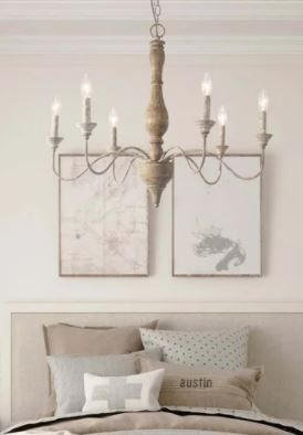 The Gray Barn Blueberry Butte Belgian White French Country Chandelier   Retail 446 99